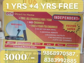INDEPENDENT TV DTH 1 YRS + 4 YRS FREE FREE
